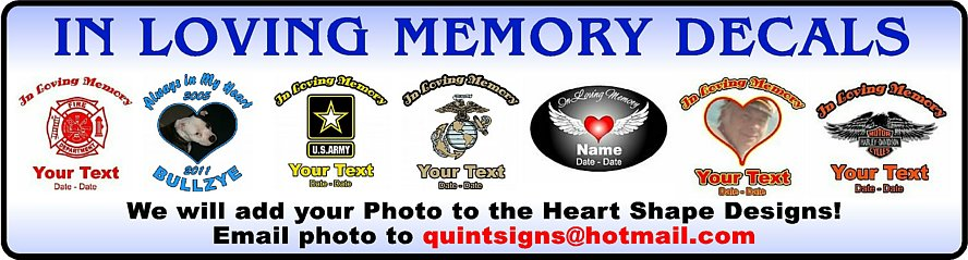 In Loving Memory Stickers and Decals