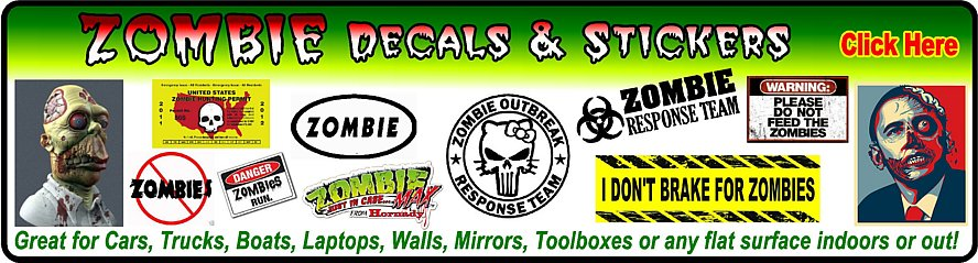 Zombie Wall Wall Decals