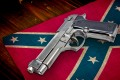 Confederate Flag and Gun