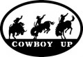 Cowboy Up Oval Decal