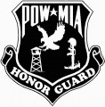 POWMIA Honor Guard Sticker