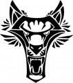 Tribal Wolf Sticker 36