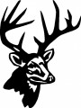 Deer Head Wall Decal 5