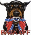 doberman BACK OFF rebel sticker