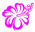 Flower TRIBAL HIBISCUS Decal