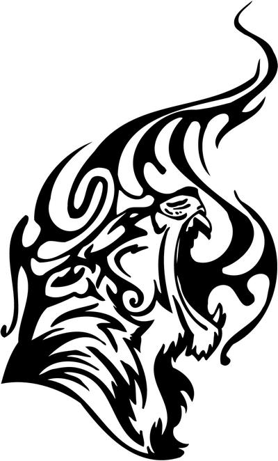 Tribal Tiger Stickers 20, tribal animals decal, tribal ...
