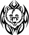 Tribal Bear Sticker Decals 31