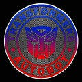 1 BADGE DECAL Carbon Fiber Autobot