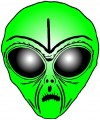 Alien Head Sticker 5