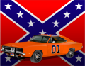 dukes of hazard general lee charger and rebel flag sticker