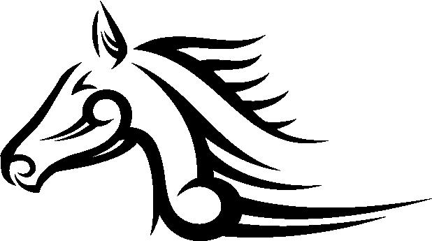 tribal of sticker Tribal tribal animals tribal 1, Horse animals decal, Stickers sticker