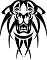 Tribal Tiger Stickers 01