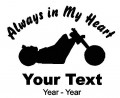 Motorcycle Always in My Heart Decals
