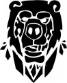 Tribal Bear Sticker Decals 29