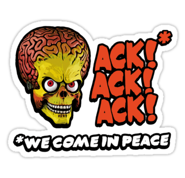 Mars Attacks Alien Car Sticker 6 Custom Wall Graphics