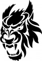 Tribal Wolf Sticker 03