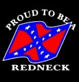 proud to be a redneck rebel flag sticker