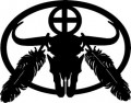 Buffalo Skull Wall Decal 2