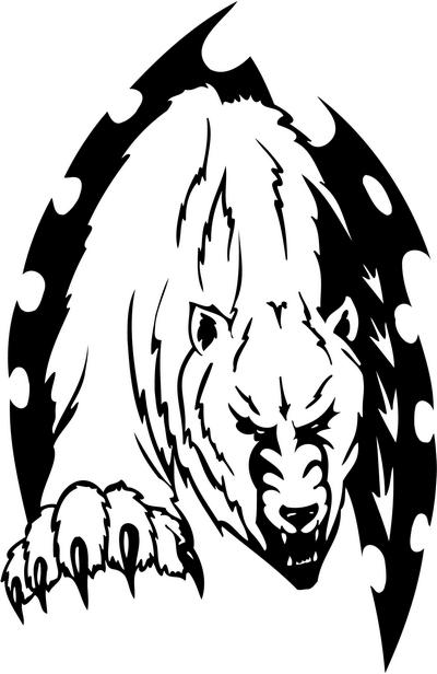 Tribal Bear Sticker Decals 14 Tribal Animals Decal