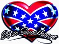 dixie sweetheart confederate flag sticker
