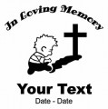 Child Pray Memory Decal