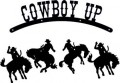 Cowboy Up Riding Decal