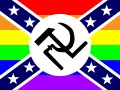 nazi communist confederate homosexual sticker