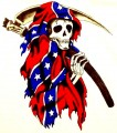 grim reaper reble flag sticker