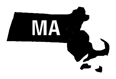Ma Us State Shape Diecut Vinyl Decal Us State Silhouette