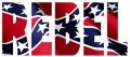REBEL with rebel flag fill sticker