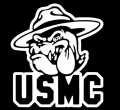 USMC Dog Deicut Decal Sticker