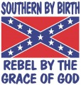 Southern Birth Rebel Grace of God Sticker