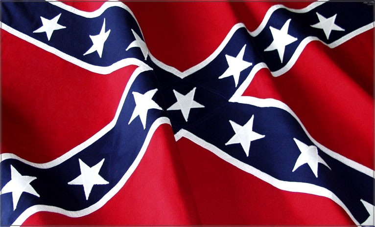 Dixie Confederacy Battle Flag Waving Decal Sticker