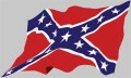 rebel flag waving sticker