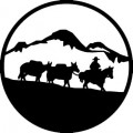 Cattle Driving Wall Decal