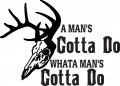 Deer Hunting Decal 48