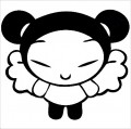 Pucca Angel Cartoon Decal