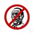 No Zombies Wall Sticker 2