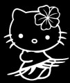Kitty Kat in Hula Skirt Decal