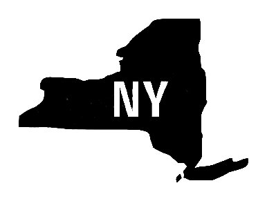 Ny Us State Shape Vinyl Decal Us State Silhouette Decal