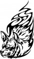 Tribal Wolf Sticker 31