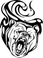 Tribal Bear Sticker Decals 25