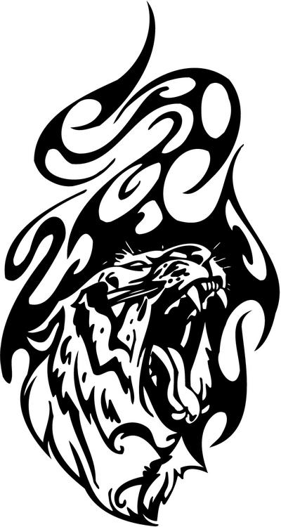 Tribal Tiger Stickers 22 Tribal Animals Decal Tribal